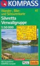 Silvretta, Verwallgruppe - mapa Kompass č.41 - 1:50t /Rakousko,Švýcarsko/