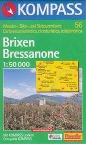 Brixen a okolí - mapa Kompass č.56 - 1:50t /Itálie/