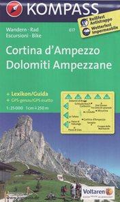 Cortina d Ampezzo - mapa Kompass č.617 - 1:25t /Itálie/