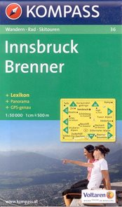 Innsbruck, Brenner - mapa Kompass č.36 - 1:50t /Rakousko,Itálie/