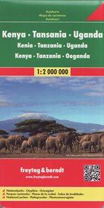 Keňa, Tanzánie, Uganda - mapa Freytag&Berndt - 1:2m