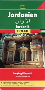 Jordánsko - mapa FR 1:700