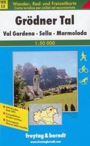Grdner Tal - Val Gardena, Sella, Marmolada - mapa WKs5 - 1:50t /Itálie/