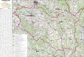 Kraj - Pardubický -ZES- 1:120 000 - nástěnná mapa