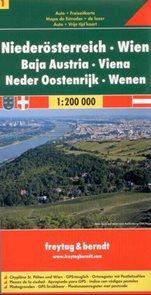 Rakousko - Niedersterreich - mapa Freytag č.1 - 1:200 000
