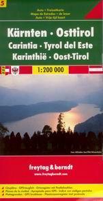 Rakousko - Kärnten, Osttirol /Korutany,Tyrolsko/ - mapa Freytag č.5 - 1:200 000