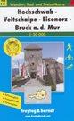 Hochschwab, Veitschalpe, Eisenerz, Bruck a.d. Mur - mapa WK041 - 1:50t /Rakousko/