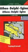 Řecko - Athen, Delphi - mapa F