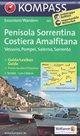 Penisola Sorrentina, C. Amalfinata, Vesuvio, Pompei, Salermo, Sorrento - mapa Kompass č.682 - 1:50t
