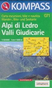Alpi di Ledro, Valli Giudicarie - mapa Kompass č.071 - 1:50t /Itálie/