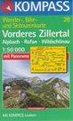 Achensee,Rofan-Zillertal - mapa Kompass č.28 - 1:50t /Rakousko,Německo/