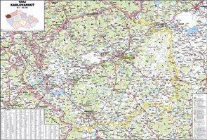 Kraj - Karlovarský -ZES- 1:95 000 - nástěnná mapa