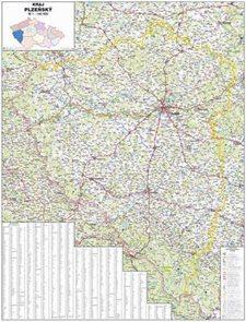 Kraj - Plzeňský -ZES- 1:140 000 - nástěnná mapa