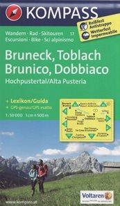 Bruneck, Toblach - mapa Kompass č.57 - 1:50t /Rakousko,Itálie/