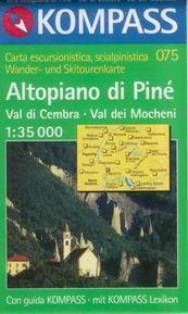 Altopiano di Piné, Val di Cembra, Val dei Mocheni - mapa Kompass č.075 -1:35t /Itálie/