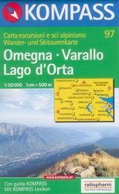 Omegna, Varallo, Lago dOrta - mapa Kompass č.97 - 1:50t /Itálie/