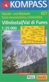 Villnsstal /Val di Funes/ - mapa Kompass č.627 - 1:25t /Itálie/