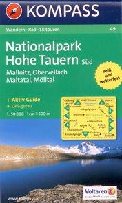 NP Hohe Tauern -jih- Mallnitz, Obervellach, Maltatal, Moelltal - mapa Kompass č.49 - 1:50 000 /Rakou