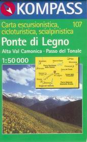 Ponte di Legno - mapa Kompass č.107 - 1:50t /Itálie/
