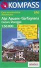 Alpi Apuane - Garfagnana, Carrara, Viareggio - mapa Kompass č.646 /Itálie/