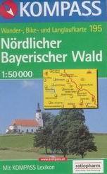 Nrdlicher Bayerischer Wald - mapa Kompass č.195 - 1:50t /Německo,Česká republika/