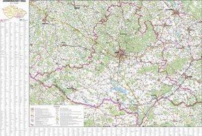 Nástěnná mapa Jihomoravský kraj 1:170 000 113x85cm