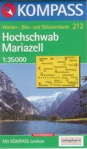 Hochschwab, Mariazell - mapa Kompass č.212 - 1:35t /Rakousko/