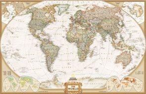 Svět - politické rozdělení -Executive- 1:36 384 000 - nástěnná mapa /National Geographic/