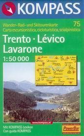 Trento, Lévico, Lavarone - mapa Kompass č.75 - 1:50t /Itálie/