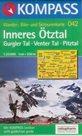 Inneres Ötztal, Gurgler Tal, Venter Tal, Pitztal - mapa Kompass č.042 - 1:25t /Rakousko,Itálie/