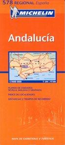 Španělsko - Andalucía /Andalusie/ - mapa Michelin č.578 1:400 000
