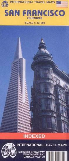 San Francisco - plán ITM - 1:12 500 /USA/