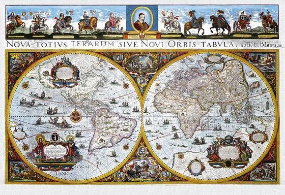 Historický svět - nástěnná mapa - 160x110cm, Doprava zdarma