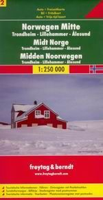 Norsko -2- střed - mapa Freytag - 1:250 000
