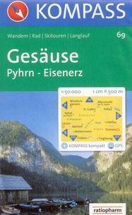 Gesäuse, Pyhrn, Eisenerz - mapa Kompass č.69 - 1:50t /Rakousko/