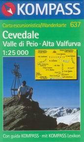 Cevedale, Valle di Peio, Alta Valfurva - mapa Kompass č.637 - 1:25t /Itálie/