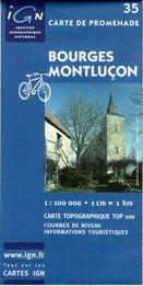 Francie- Bourges-Montlucon - mapa IGN č.35 - 1:100 000