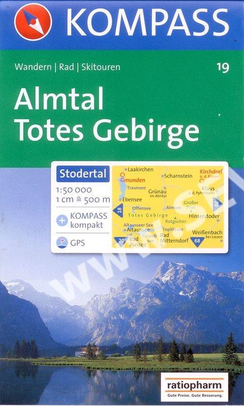 Almtal Stodertal Totes Gebirge Mapa Kompass C 19 1 50 000