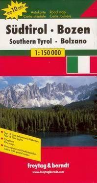 Italie Jizni Tyrolsko Bolzano Mapa Freytag Berndt 1 150t