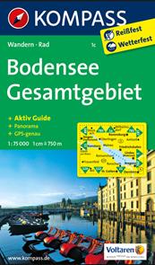 Bodensee/Bodamské jezero/ - mapa Kompass č.1c - 1:75t /Německo,Rakousko,Švýcarsko/