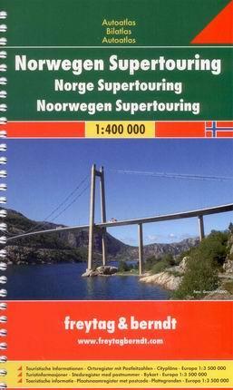 Norsko - autoatlas Freytag - 1:400 000 - A5, spirála
