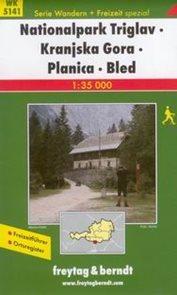 Slovinsko - Julské Alpy - NP Triglav, Krajska Gora, Planica, Bled - mapa WK5141 - 1:35 000