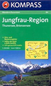 Jungfrau Region, Thunersee, Brienzersee - mapa Kompass č.84 - 1:50 000 /Švýcarsko/