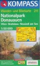 Donauauen NP, Wien, Bratislava, Neusiedl am See - mapa Kompass č.211 - 1:50t /Rakousko,Slovensko/