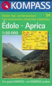 Édolo, Aprica - mapa Kompass č.94 - 1:50t /Švýcarsko,Itálie/
