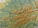 Beskydy - reliéfní - 1:100 000 - nástěnná mapa