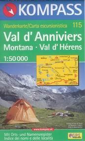 Val d´Anniviers - mapa Kompass č.115 - 1:50t /Švýcarsko,Itále/