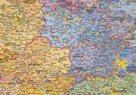 Česká republika - administrativní - 1:400 000 - nástěnná mapa /Stiefel/