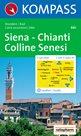 Siena, Chianti, Colline Senesi -  mapa Kompass č.661 - 1:50t /Itálie/