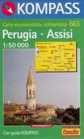 Perugia - Assisi - mapa Kompass č.663 - 1:50t /Itálie/